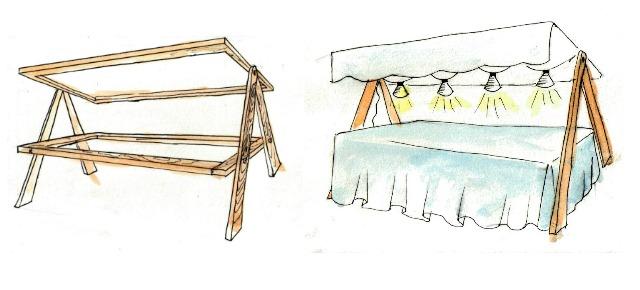 Como montar tu propia parada de la a a la z o del suelo - Como hacer farolillos de feria ...