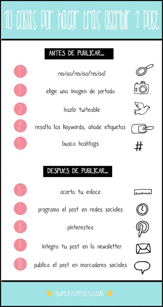 10 cosas que deberías hacer tras escribir un post