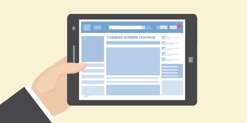 cómo cambiar el nombre de tu fan page