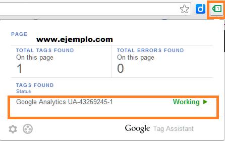 Captura de Tag Assistant indicando que tu implementación es correcta
