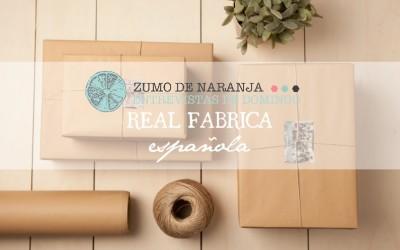ZUMO DE NARANJA: Real Fábrica Española, productos que cuentan historias
