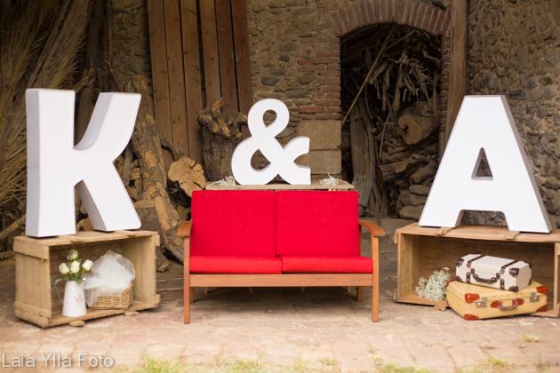 Letras luminosas para boda